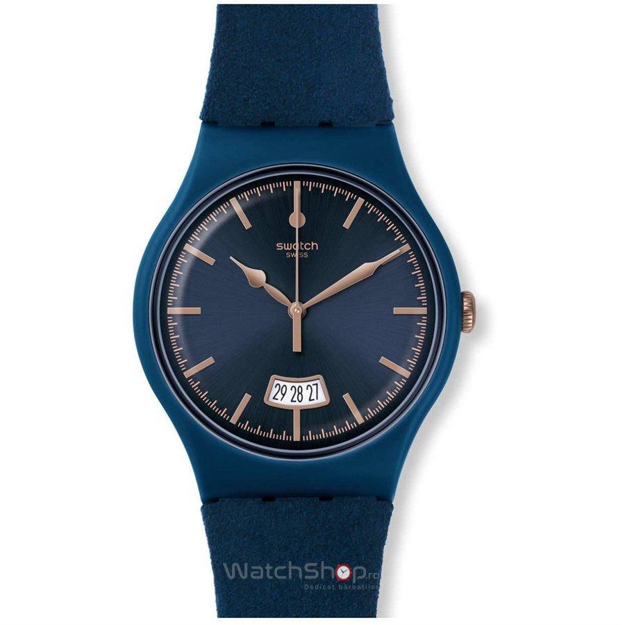 Ceas Swatch ORIGINALS SUON400 Cent Bleu de mana pentru barbati