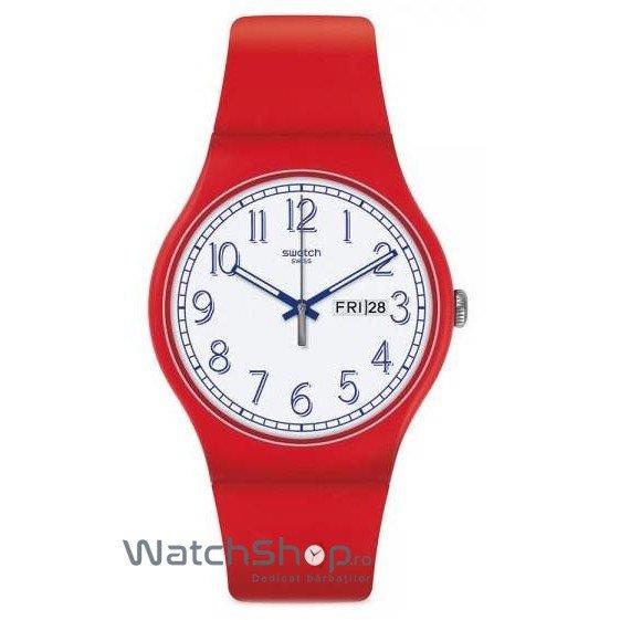 Ceas Swatch ORIGINALS SUOR707 Red Me Up de mana pentru barbati