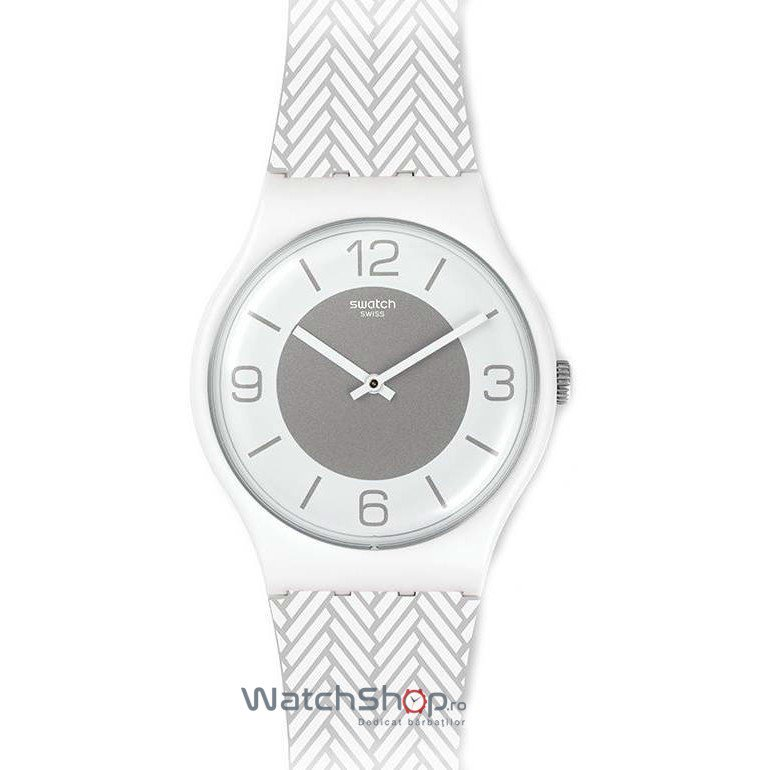 Ceas Swatch ORIGINALS SUOW131 White Glove de mana pentru barbati