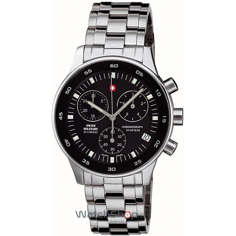 Ceas Swiss Military by CHRONO 17700ST-1M Cronograf Barbatesc Original de Lux