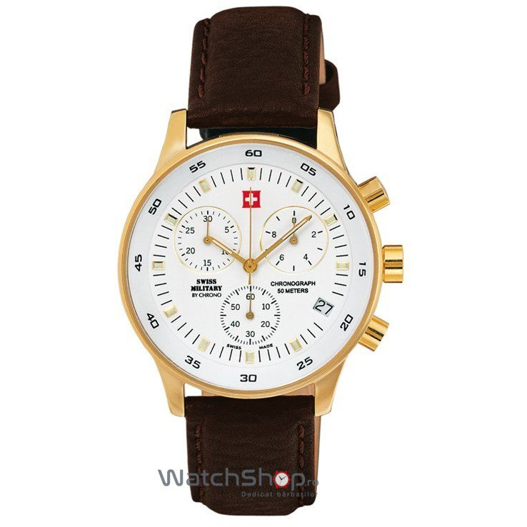 Ceas Swiss Military by CHRONO SM30052.05 Cronograf Barbatesc Original de Lux