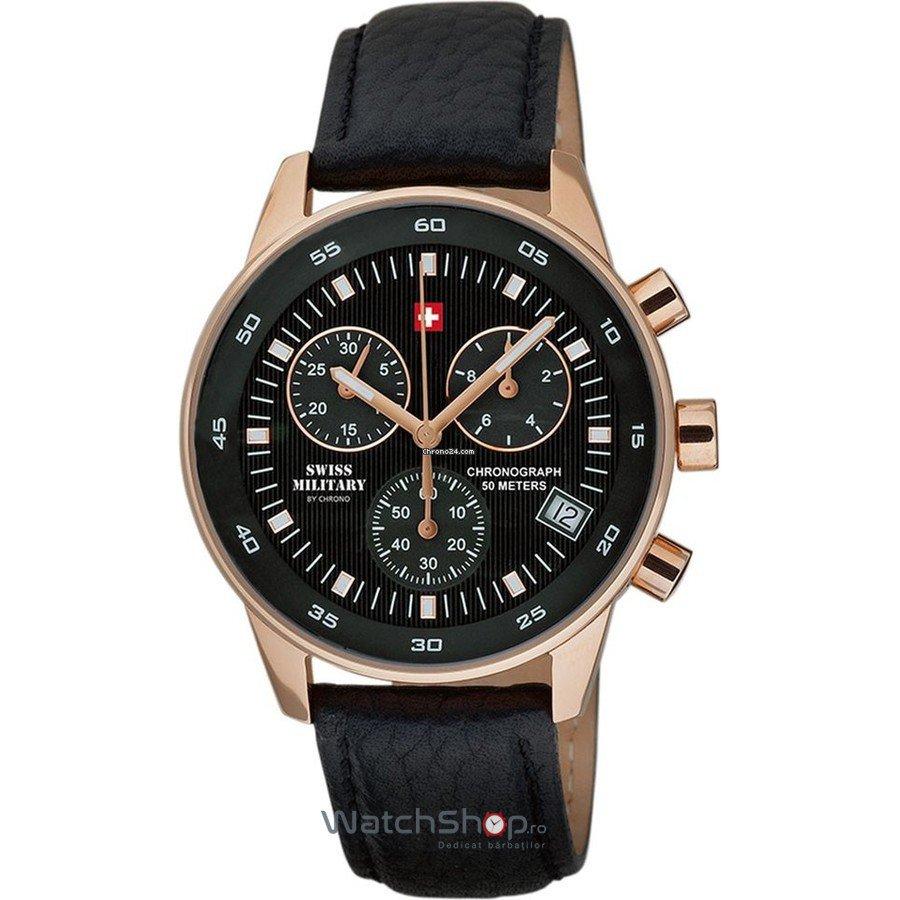 Ceas SwissMilitary by CHRONO SM30052.06 Cronograf Barbatesc Original de Lux