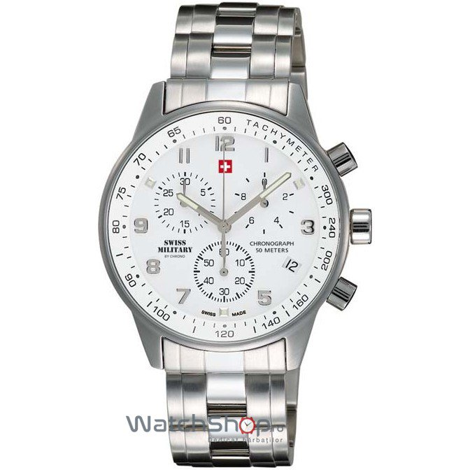 Ceas Swiss Military by CHRONO SM34012.02 Cronograf Barbatesc Original de Lux
