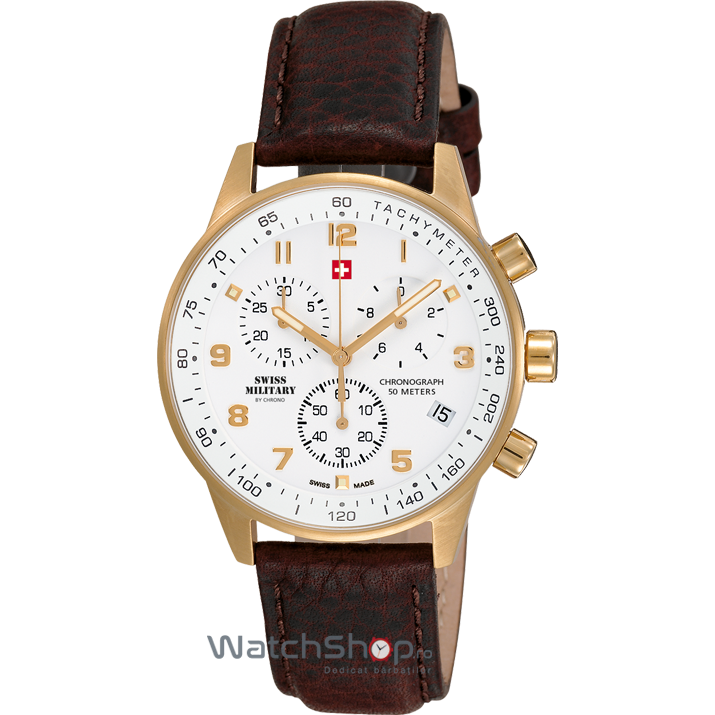 Ceas Swiss Military by CHRONO SM34012.07 Cronograf Barbatesc Original de Lux