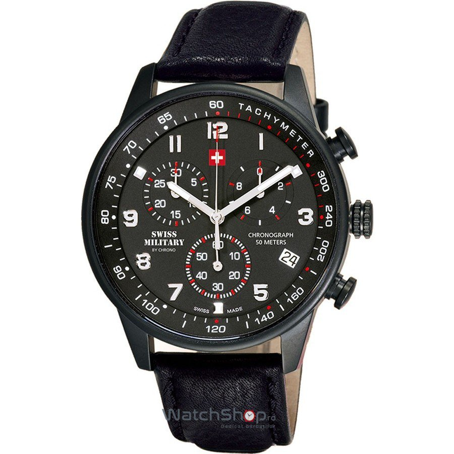 Ceas Swiss Military by CHRONO SM34012.08 Cronograf Barbatesc Original de Lux
