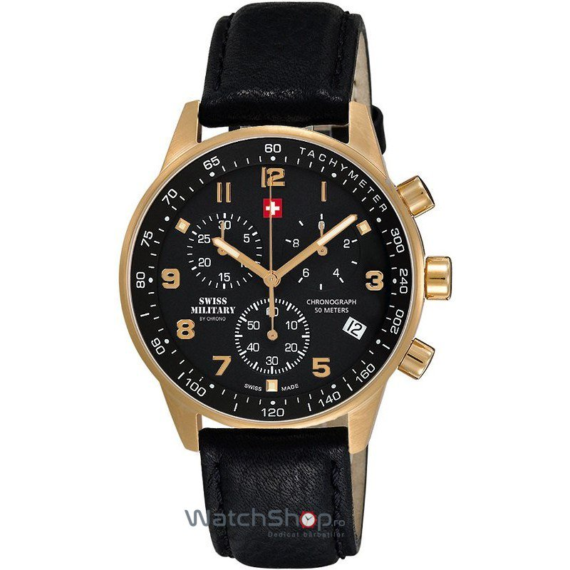 Ceas Swiss Military by CHRONO SM34012.10 Cronograf Barbatesc Original de Lux
