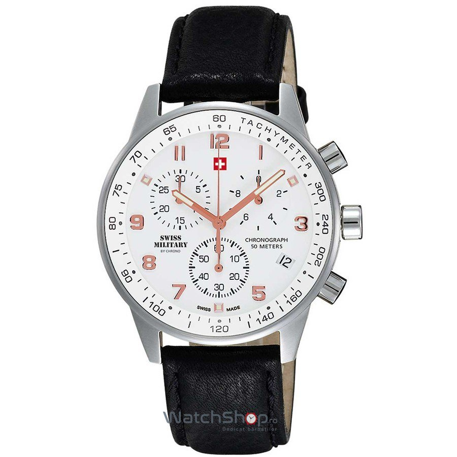 Ceas Swiss Military by CHRONO SM34012.11 Cronograf Barbatesc Original de Lux