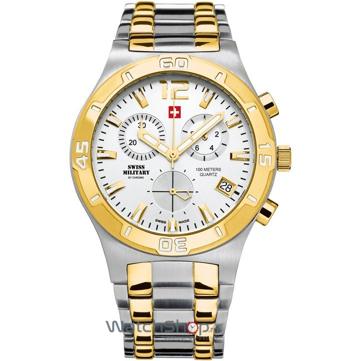 Ceas Swiss Military by CHRONO SM34015.04 Cronograf Barbatesc Original de Lux