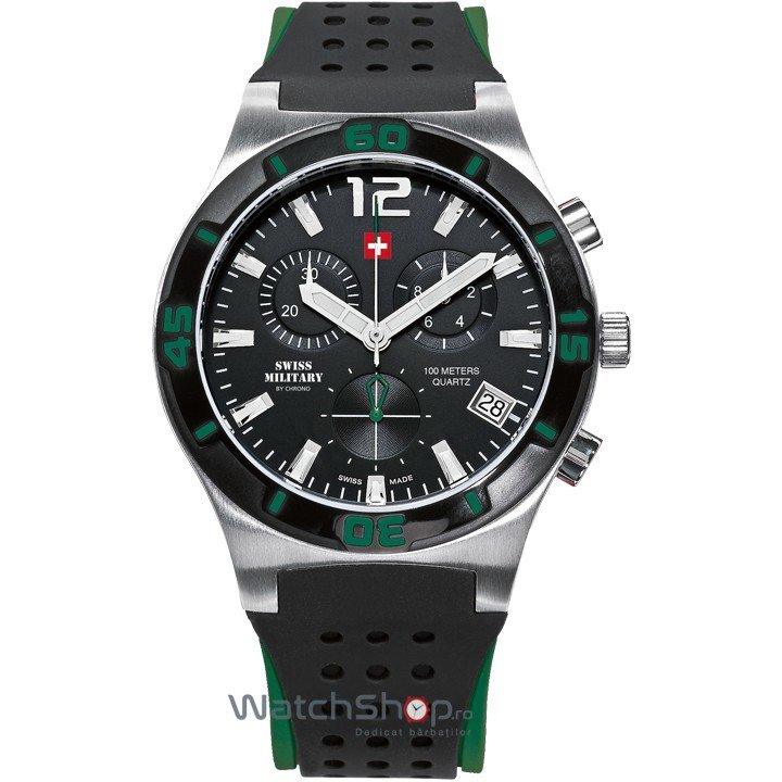 Ceas Swiss Military by CHRONO SM34015.07 Cronograf Barbatesc Original de Lux