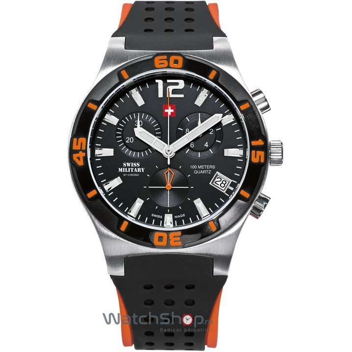 Ceas Swiss Military by CHRONO SM34015.09 Cronograf Barbatesc Original de Lux