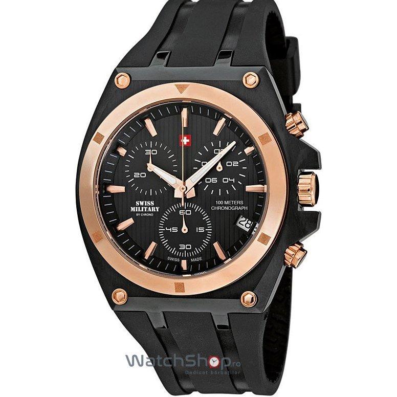 Ceas SwissMilitary by CHRONO SM34021.05 Cronograf Barbatesc Original de Lux