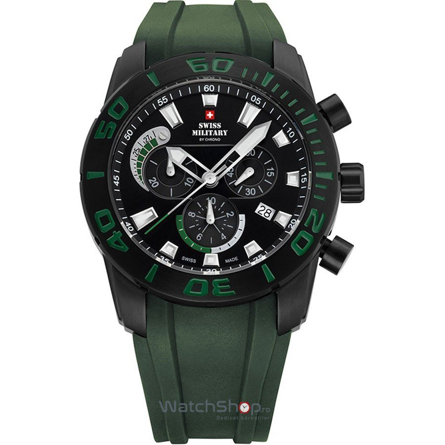 Ceas Swiss Military by CHRONO SM34031.03 Cronograf Barbatesc Original de Lux