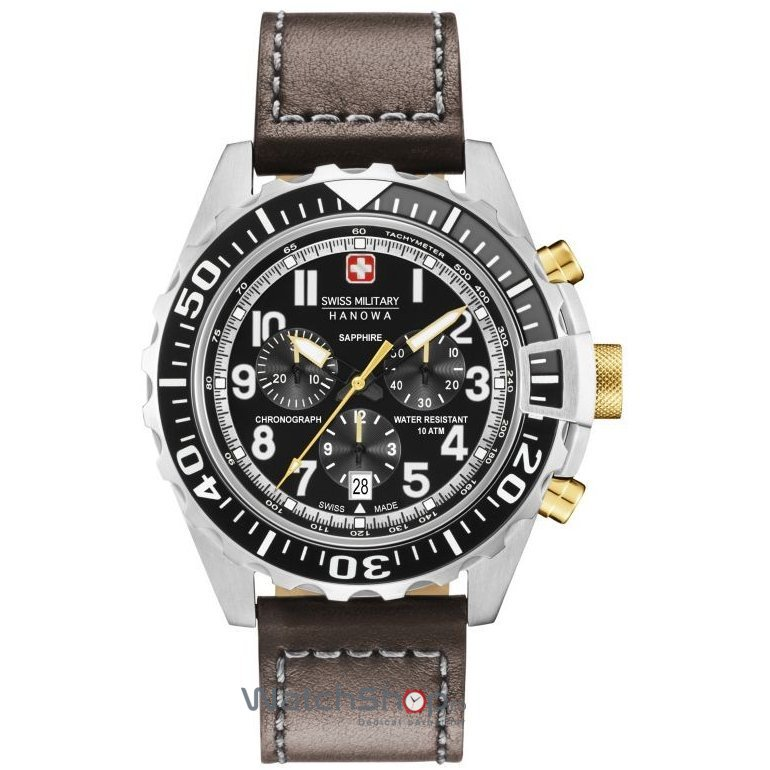 Ceas Swiss Military by HANOWA 06-4304.04.007.05 Touchdown Chrono Barbatesc Original de Lux