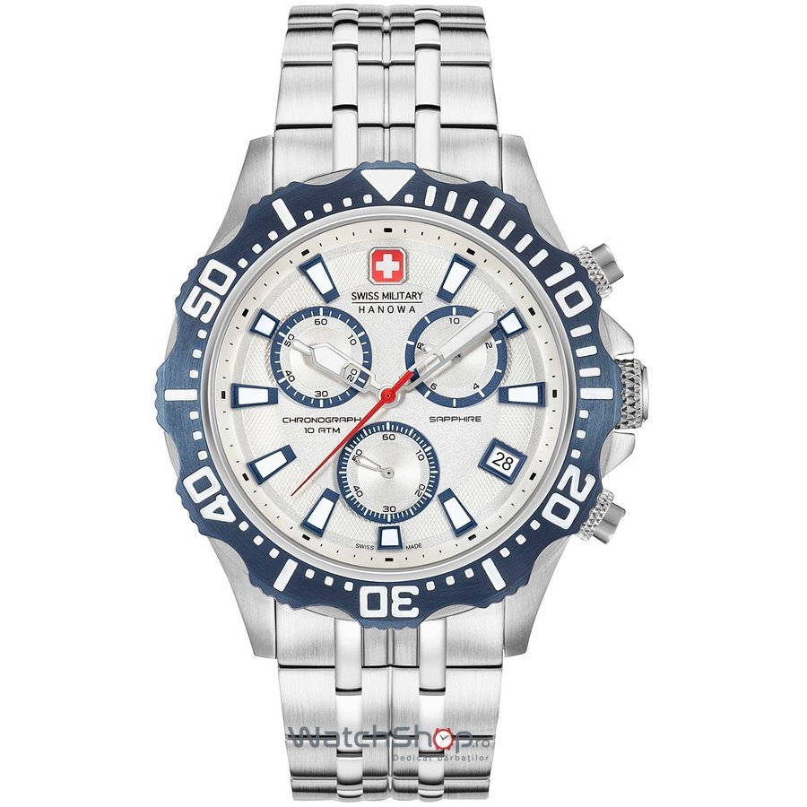 Ceas Swiss Military by HANOWA 06-5305.04.001.03 Patrol Chrono Barbatesc Original de Lux
