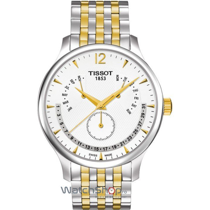 Ceas Tissot T-CLASSIC T063.637.22.037.00 Tradition Perpetual Calendar de mana pentru barbati