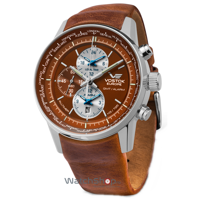 Ceas Vostok-Europe GAZ-14 LIMOUSINE YM26/565A292 Worldtimer de mana pentru barbati