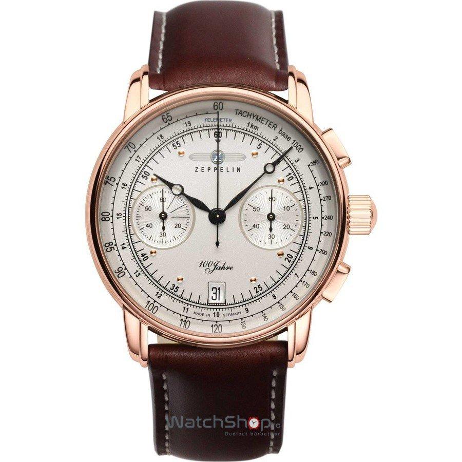 Ceas Zeppelin 100 YEARS 7672-1 Cronograf de mana pentru barbati