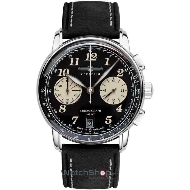 Ceas Zeppelin LZ127 GRAF 8674-3 Cronograf de mana pentru barbati