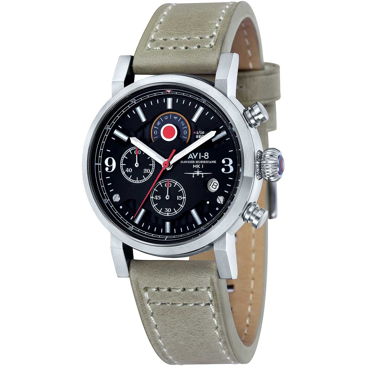 Ceas barbatesc AVI-8 Hawker Hurricane de mana original