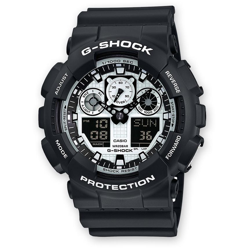 Ceas barbatesc Casio G-Shock GA-100BW-1AER de mana original