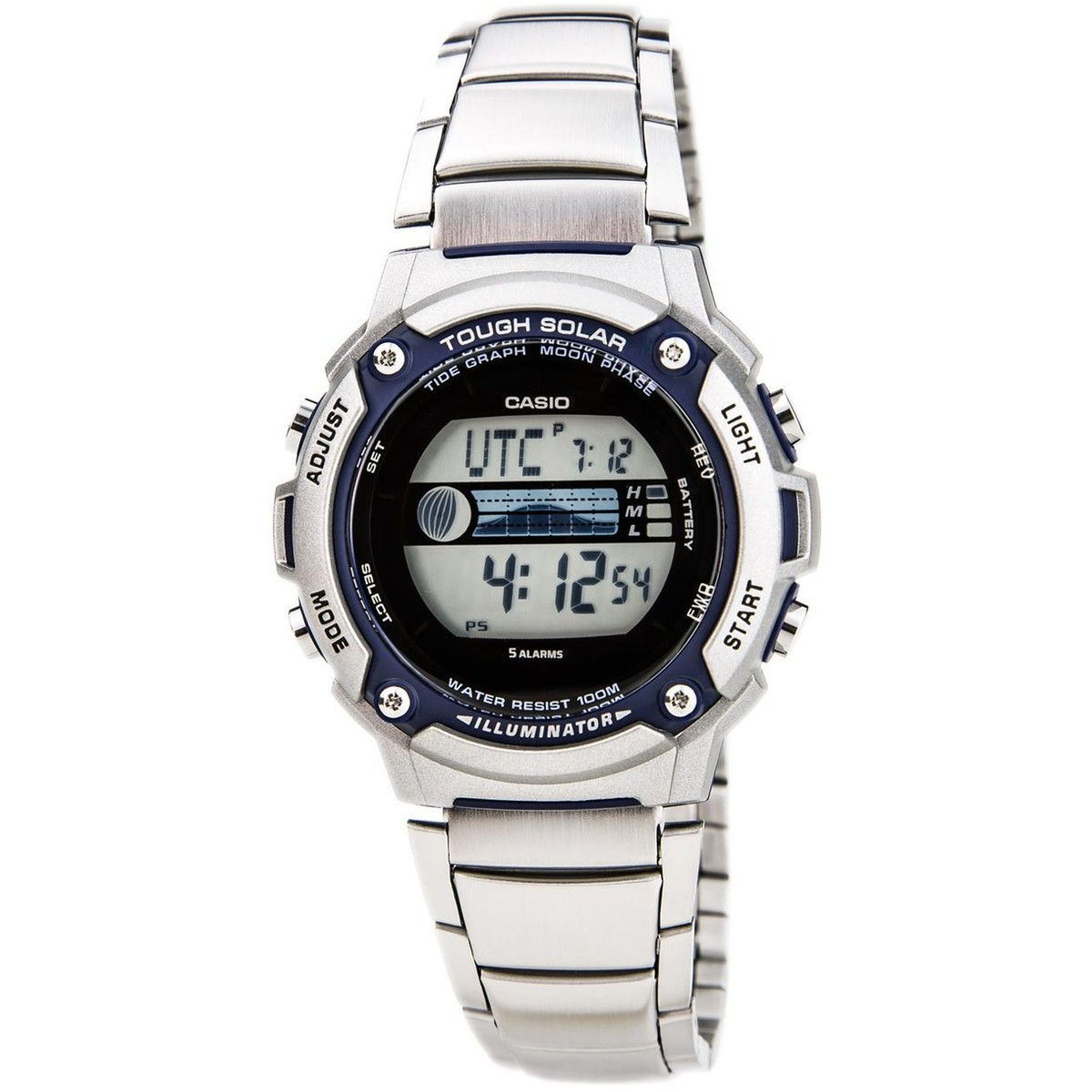 Ceas barbatesc Casio Though Solar W-S210HD-1AVEF de mana original