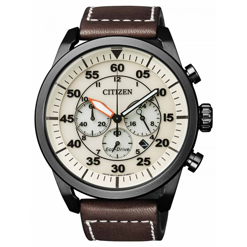 Ceas barbatesc Citizen Eco-Drive CA4215-04W Chrono de mana original