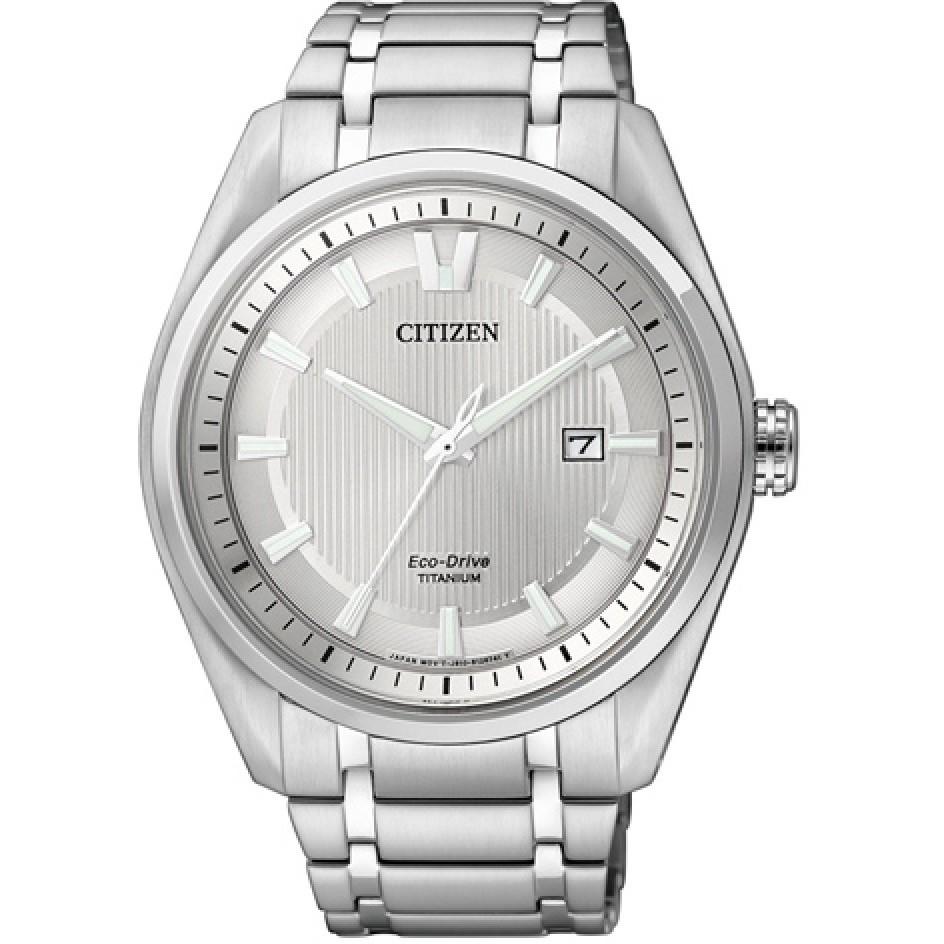 Ceas barbatesc Citizen Eco-Drive Super-Titanium AW1240-57A de mana original