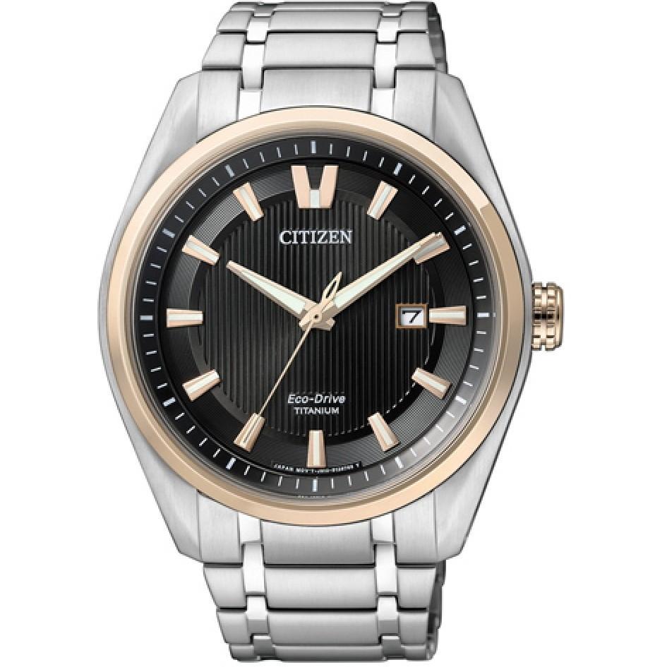 Ceas barbatesc Citizen Eco-Drive Super-Titanium AW1244-56E de mana original