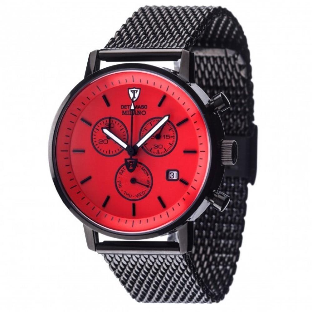 Ceas barbatesc Detomaso Milano Black/Red de mana original