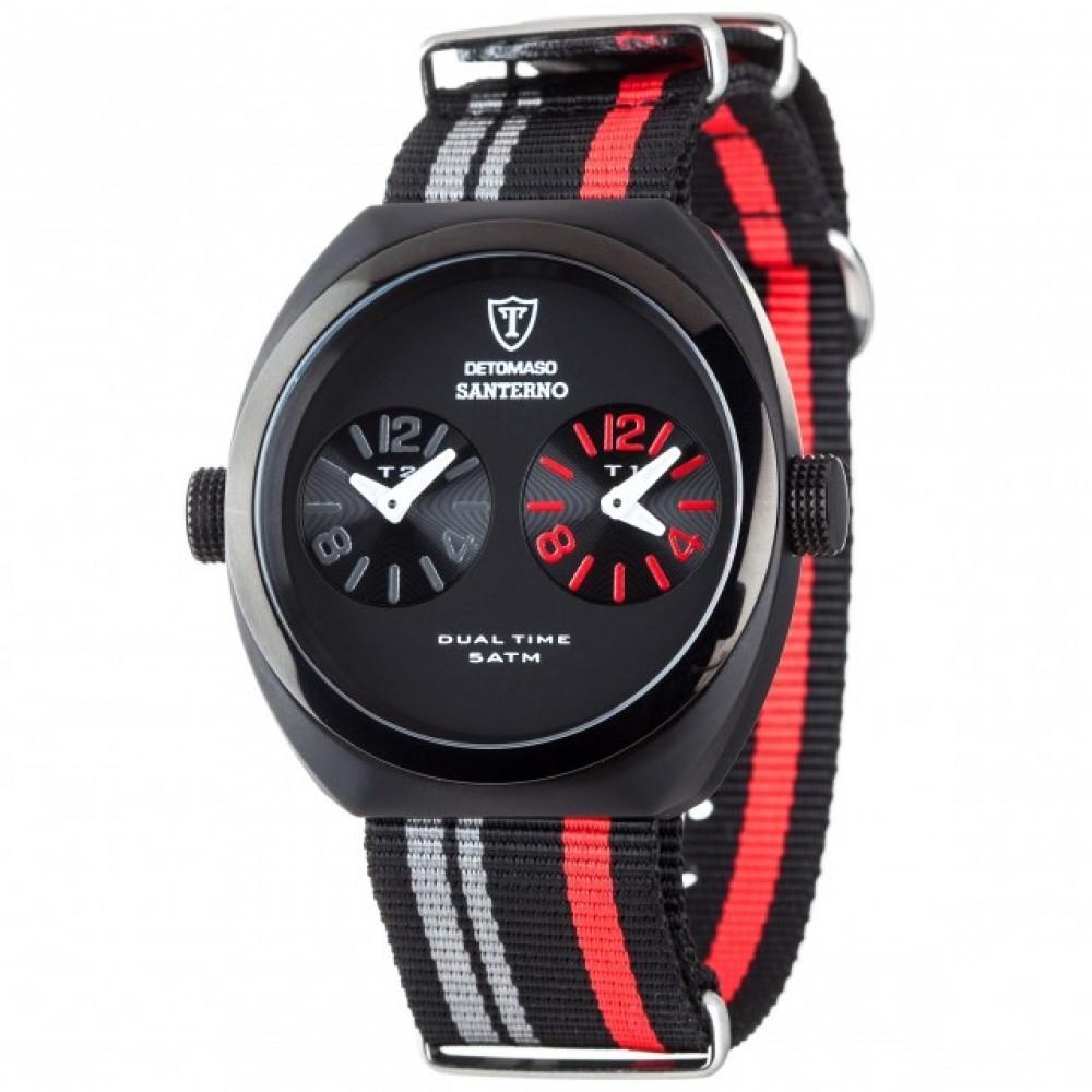 Ceas barbatesc Detomaso Santerno Black/Red de mana original