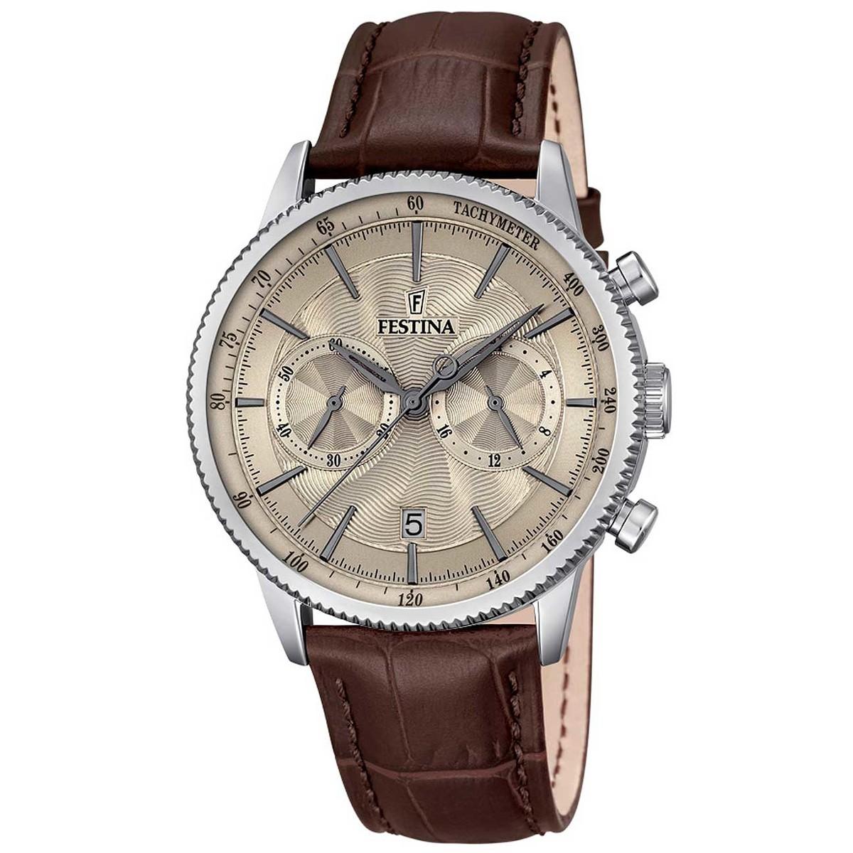 Ceas barbatesc Festina Classic Cronograf F16893/3 de mana original