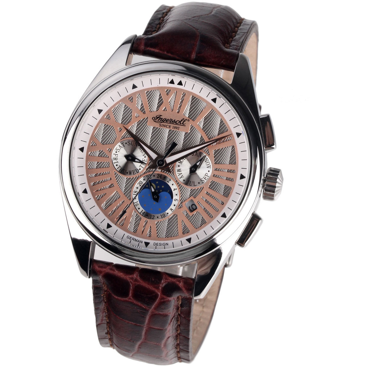 Ceas barbatesc Ingersoll Baltimore Automatic IN4101WH de mana original