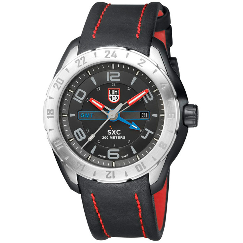 Ceas barbatesc Luminox A.5127 SXC PC Steel GMT 5120 Space de mana original