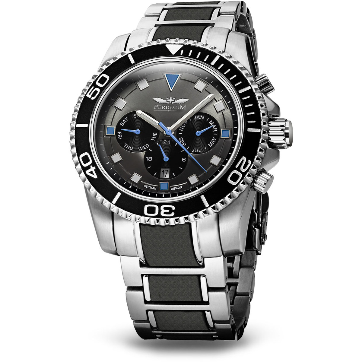 Ceas barbatesc Perigaum Stingray P-1401-BL -blue- Automatic 46 mm 100M de mana original