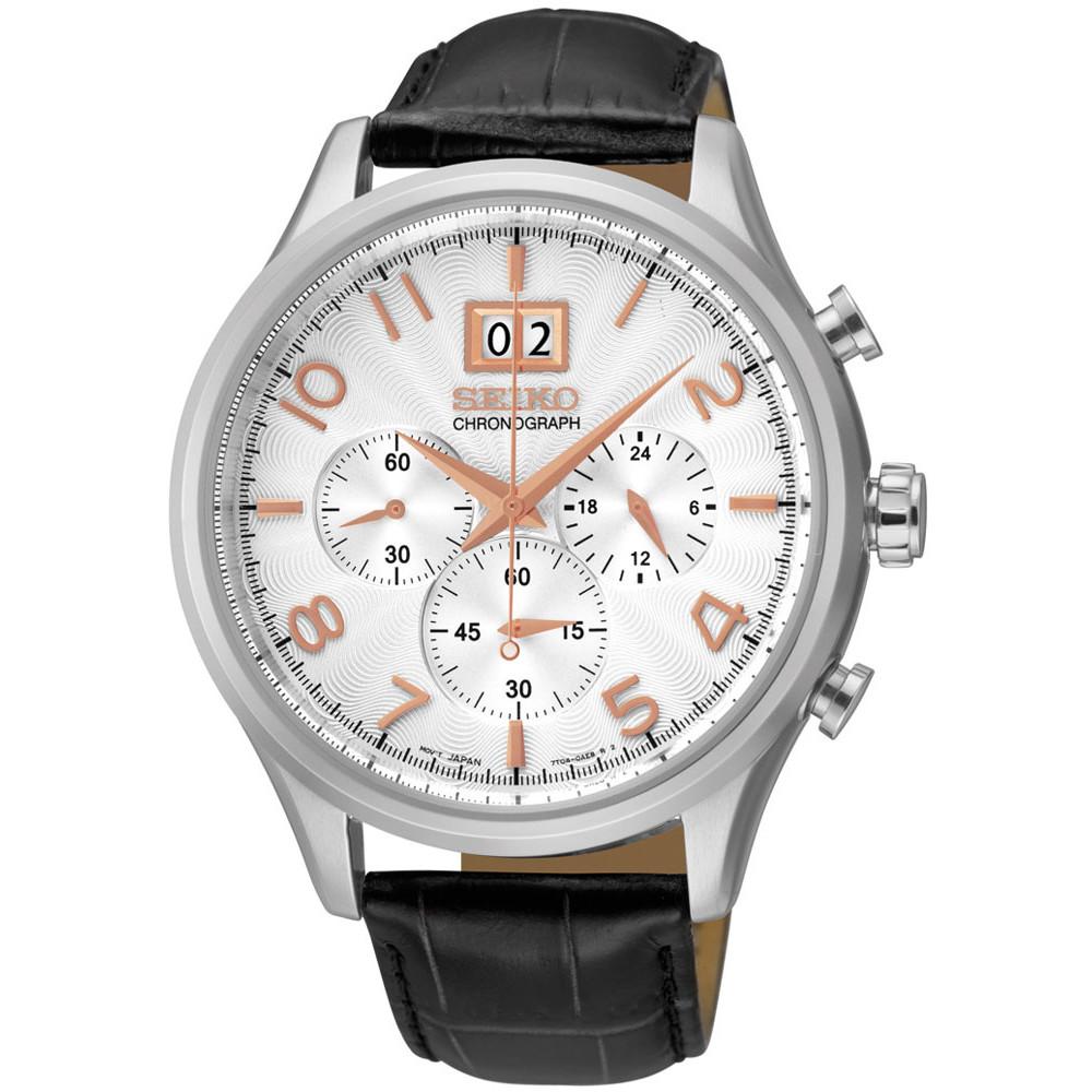 Ceas barbatesc Seiko SPC087P1 Cronograf de mana original