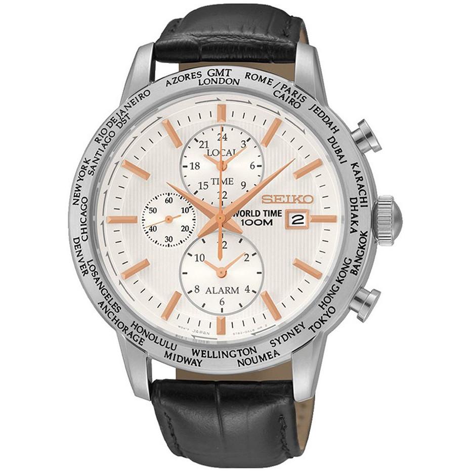 Ceas barbatesc Seiko Sport Cronograf SPL053P1 de mana original