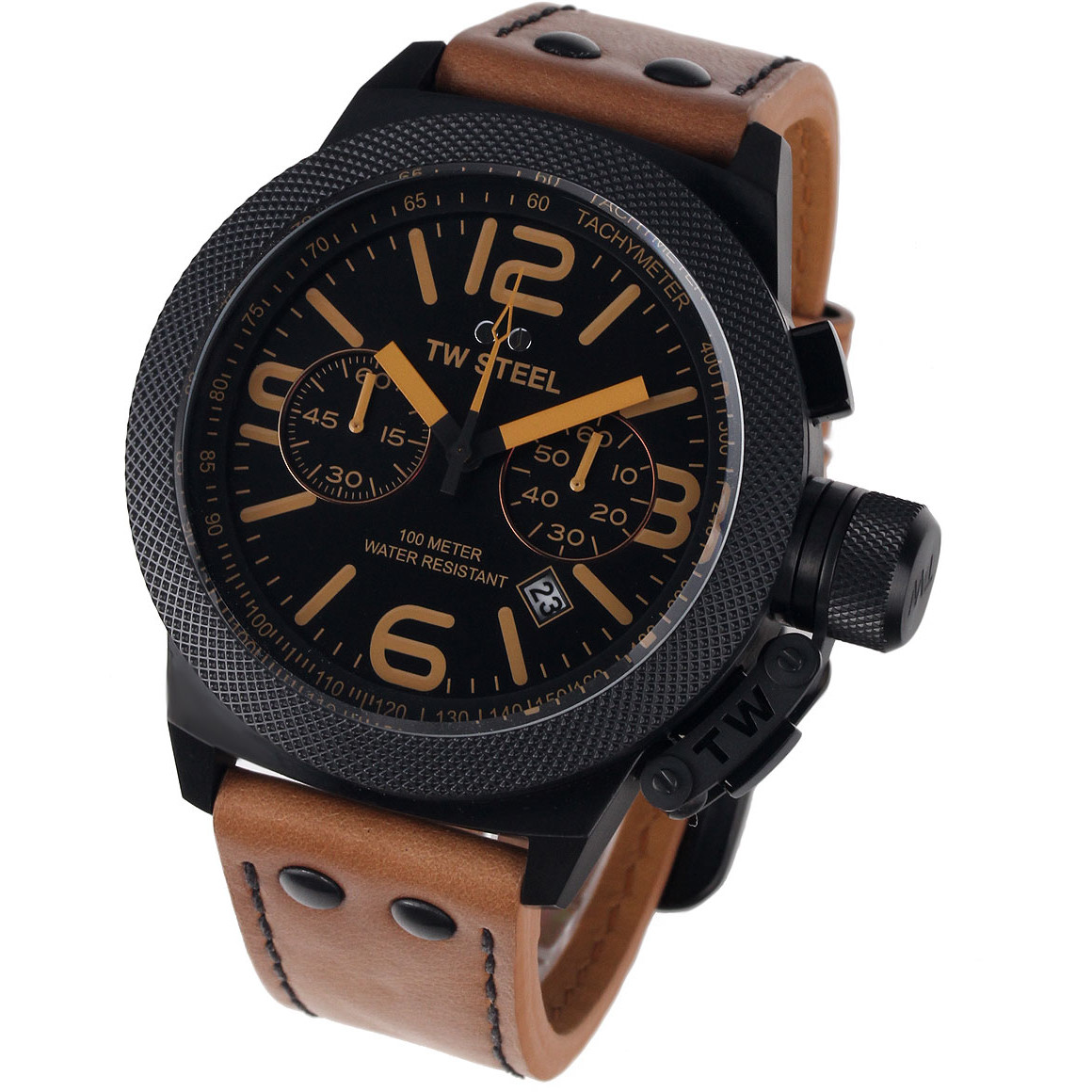 Ceas barbatesc TW-Steel CS44 Canteen Leather Chronograph de mana original