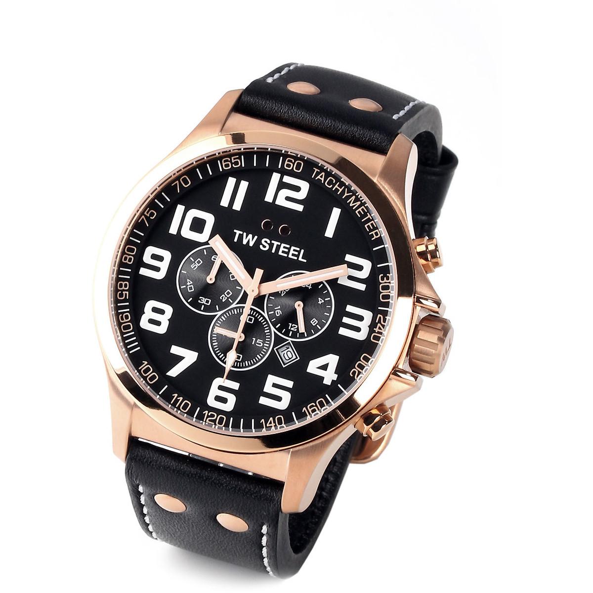 Ceas barbatesc TW-Steel Pilot TW418 Cronograph de mana original